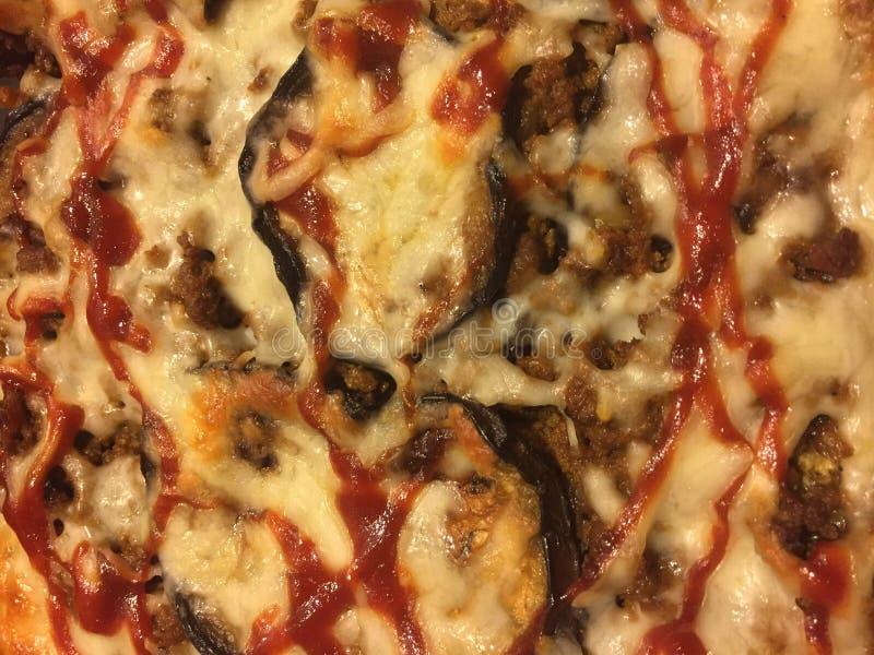 茄子乳酪和肉馅饼 库存图片