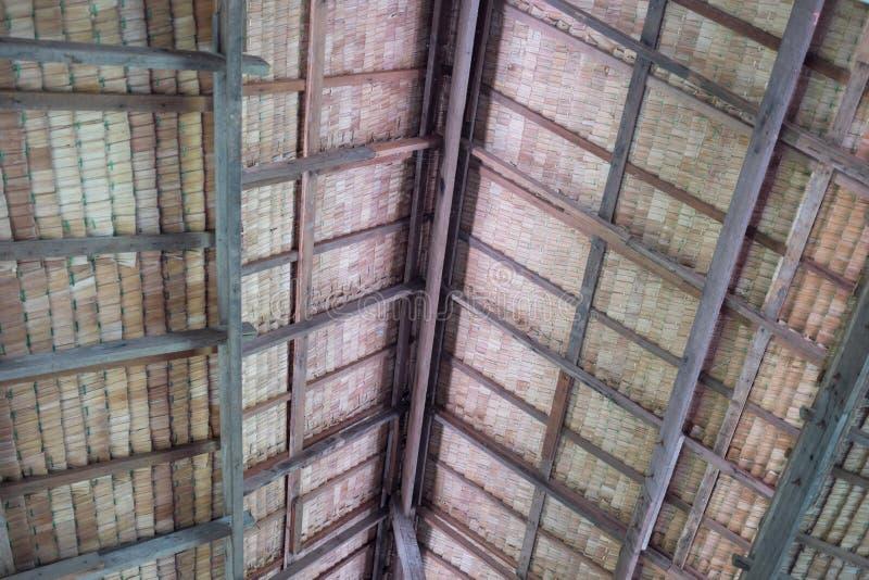 茅屋顶从里边 库存图片