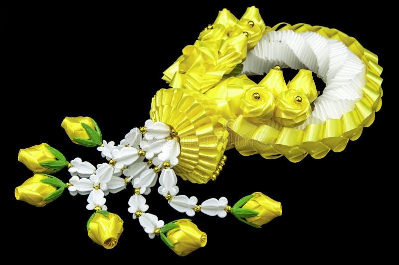 茉莉花和黄色花诗歌选 库存照片