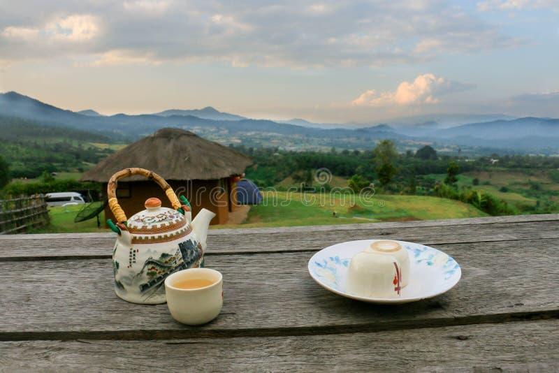 茉莉花茶在泰国 免版税库存图片