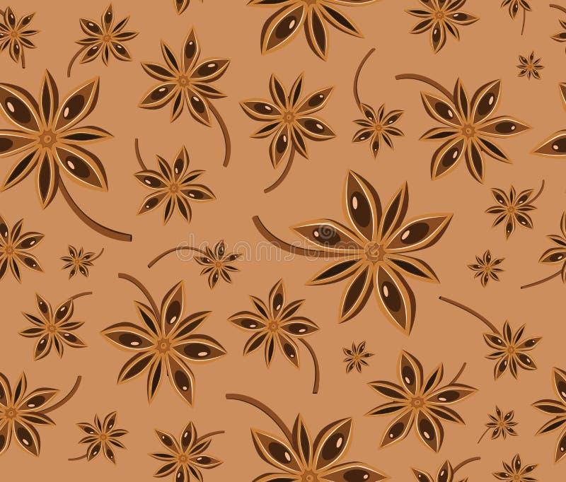 茴香无缝背景的模式 免版税图库摄影