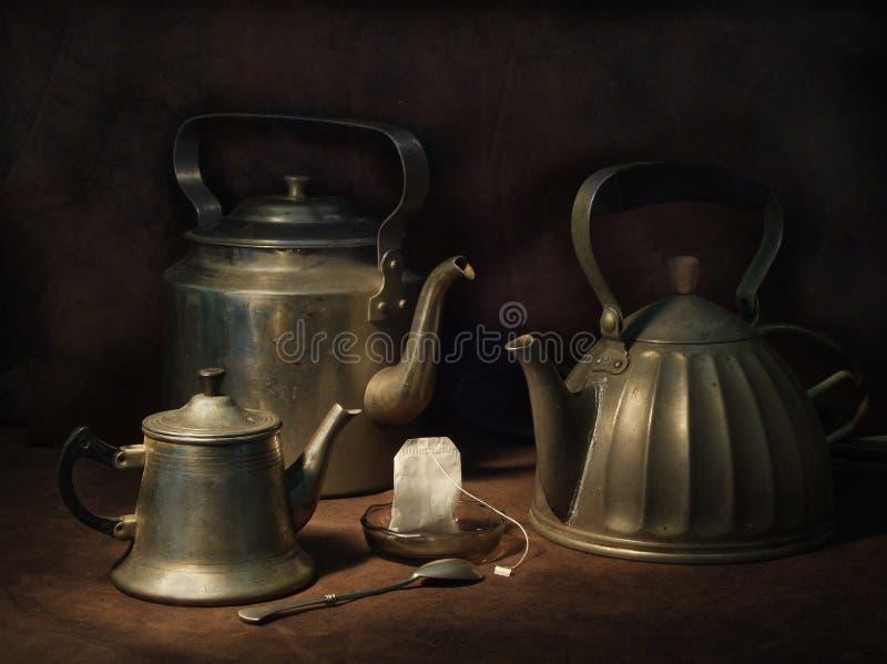 茶三位一体 图库摄影