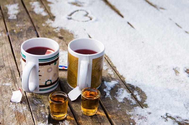 茶和兰姆酒 免版税库存图片