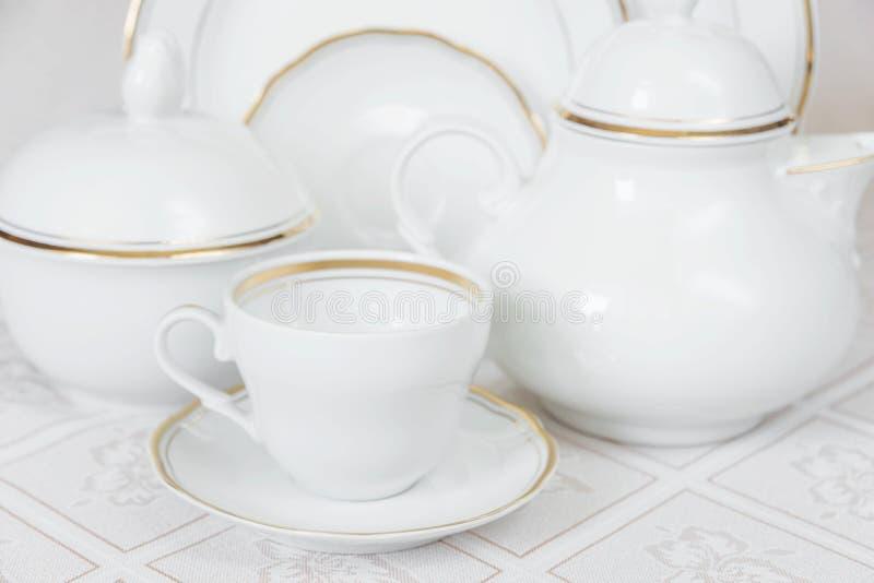 茶喝的盘 库存照片