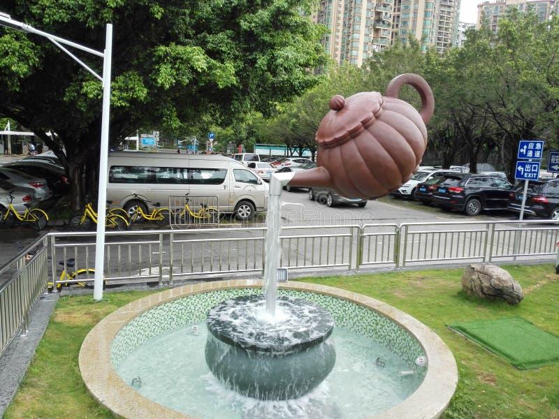 茶壶的雕象 库存照片