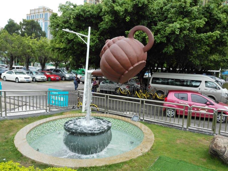 茶壶的雕象 免版税库存图片