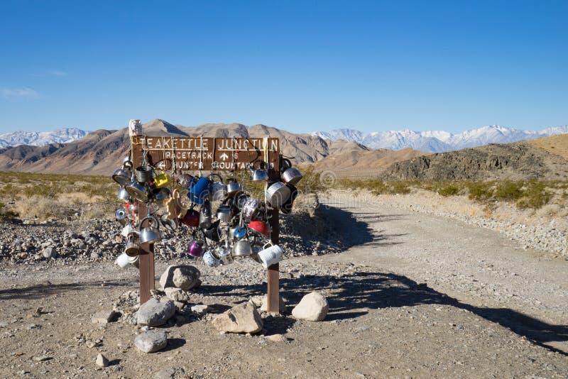 茶壶连接点,死亡谷,加利福尼亚 免版税库存图片