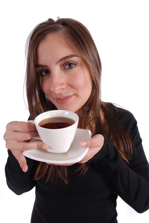 茶妇女 库存图片