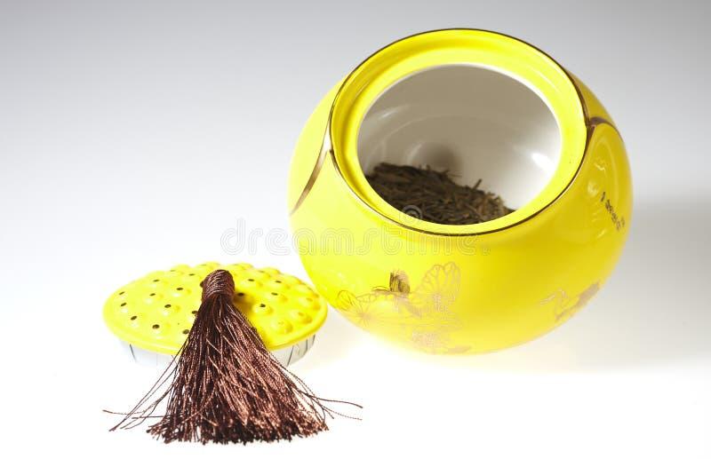 茶小型运车 免版税库存照片