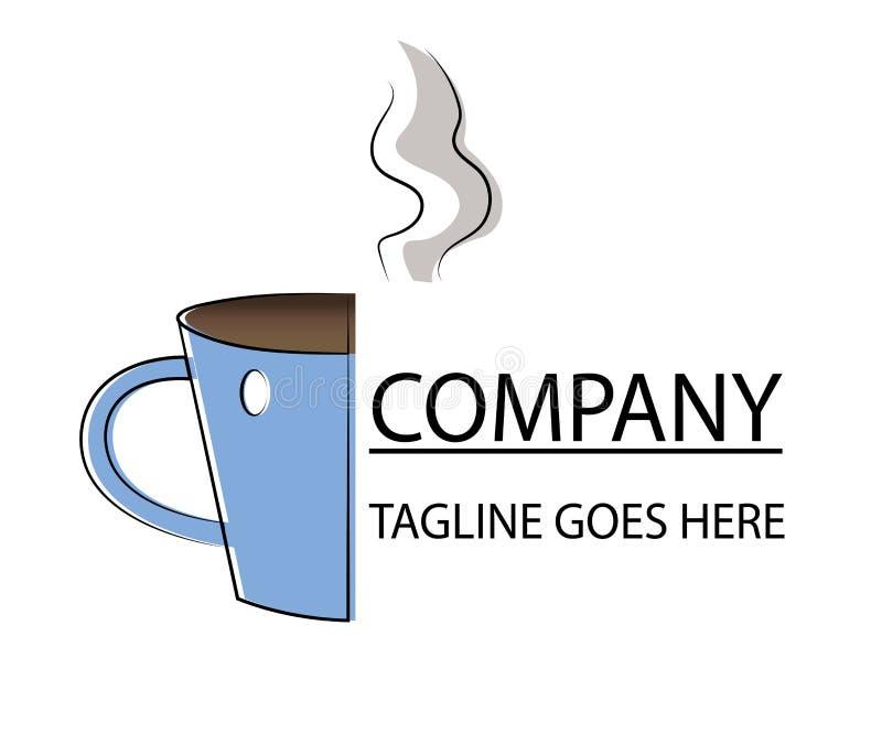 茶或咖啡商标,象 皇族释放例证
