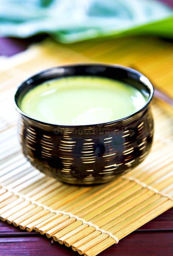 绿茶拿铁 库存照片