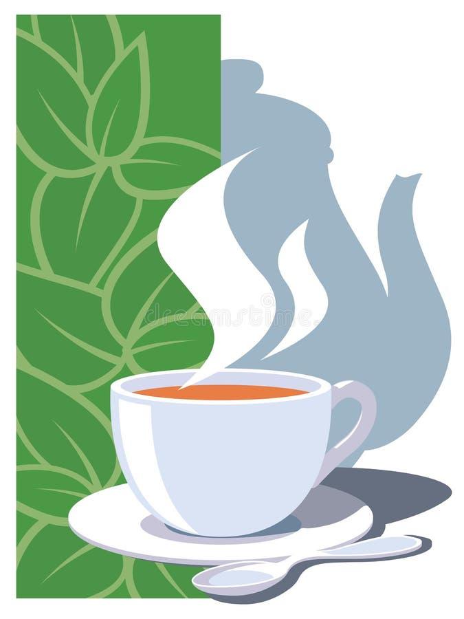 茶时间 向量例证