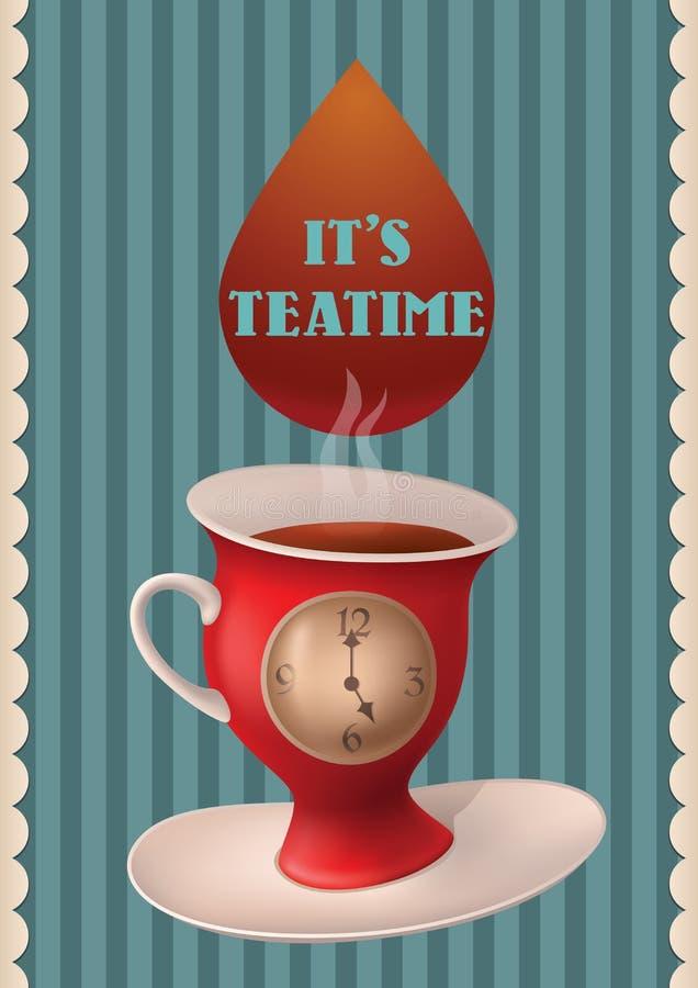 茶时间 库存例证