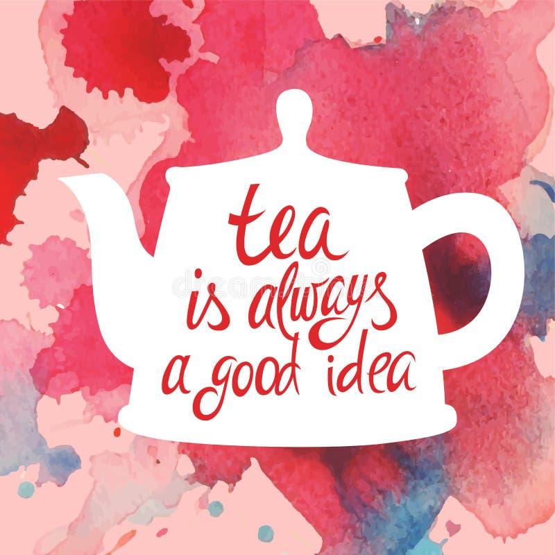 茶最佳的想法污点 向量例证
