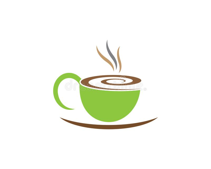 茶杯商标模板 向量例证