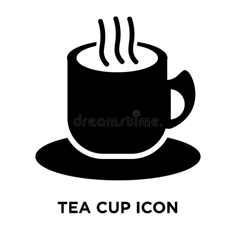 茶杯在白色背景隔绝的象传染媒介,商标概念o 库存例证