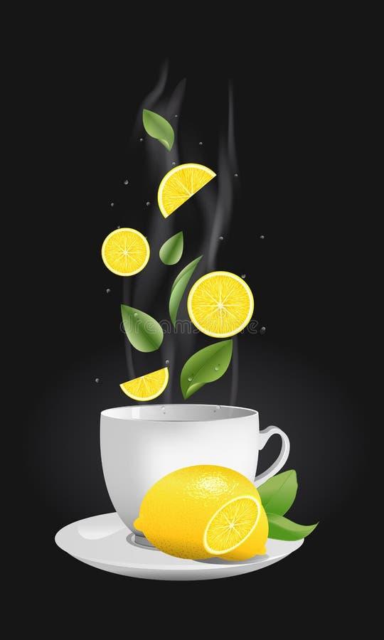 茶杯的传染媒介现实例证用茶 向量例证