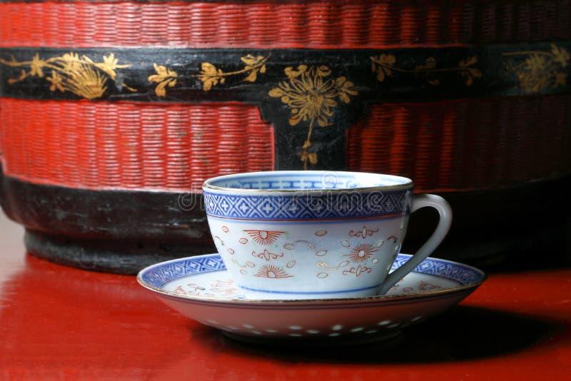 茶杯茶碟 免版税图库摄影