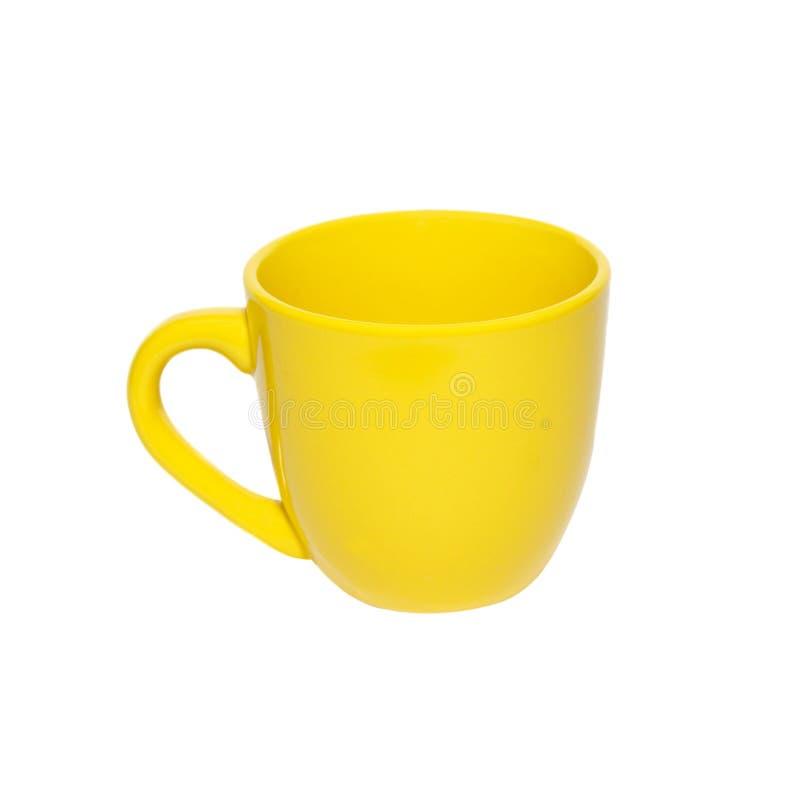 茶杯黄色 免版税库存照片