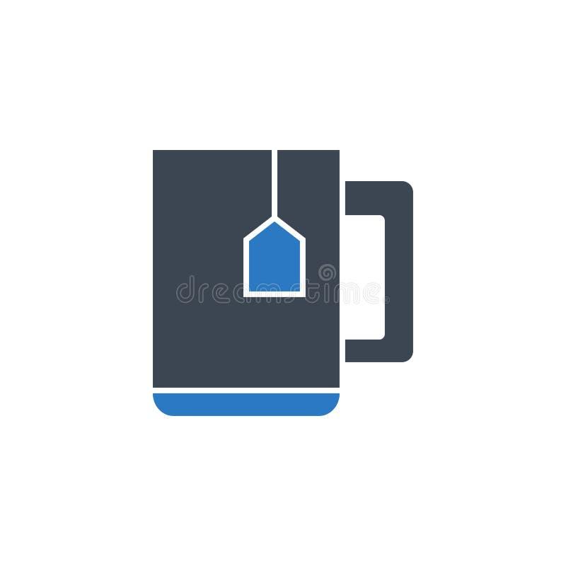 茶相关传染媒介纵的沟纹象 库存例证