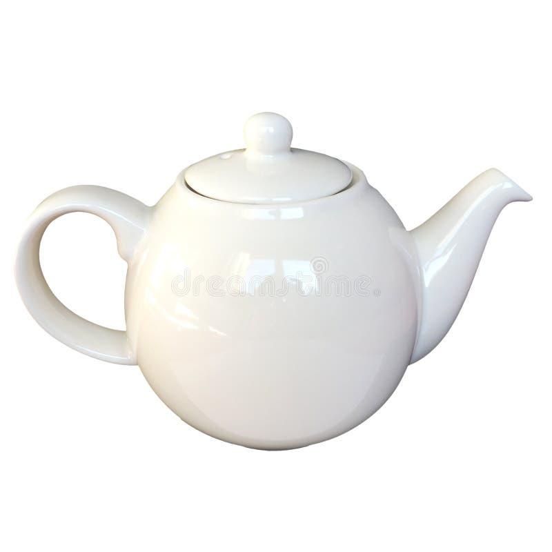 茶罐被隔绝在白色 免版税库存照片
