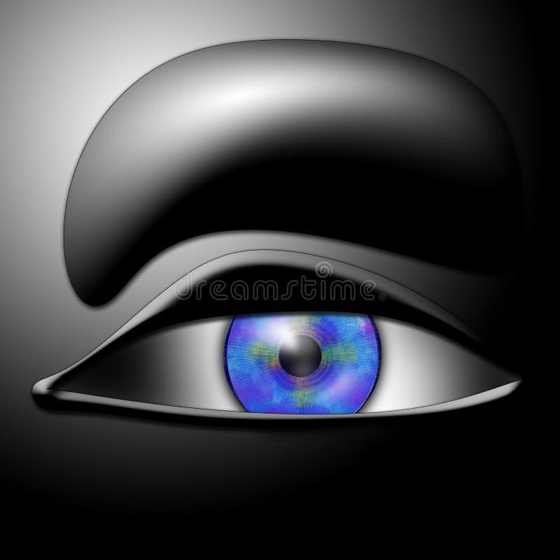 茶色眼睛 免版税库存照片