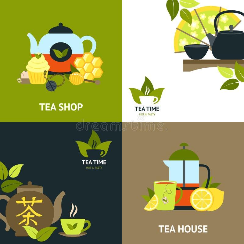 茶设计观念集合 向量例证