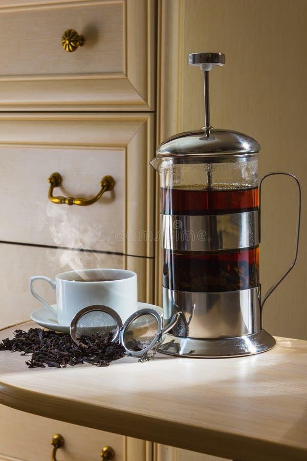 茶辅助部件 免版税库存图片