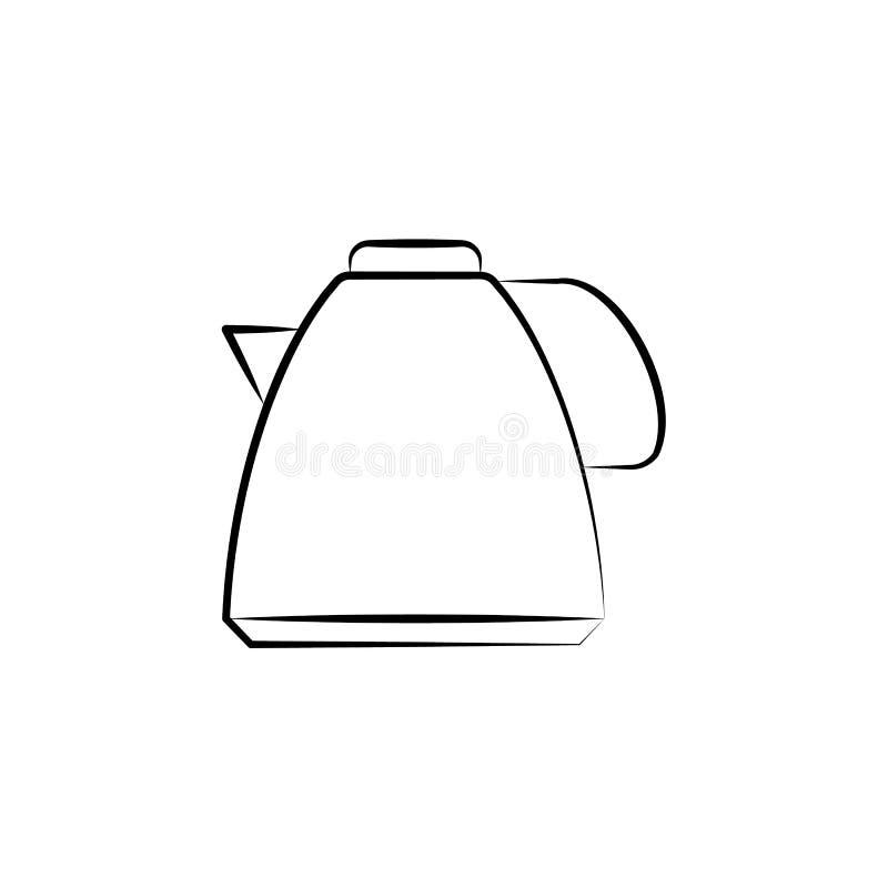 茶,茶壶象 茶象的元素流动概念和网应用程序的 手拉的茶,茶壶象可以为网和机动性用 皇族释放例证