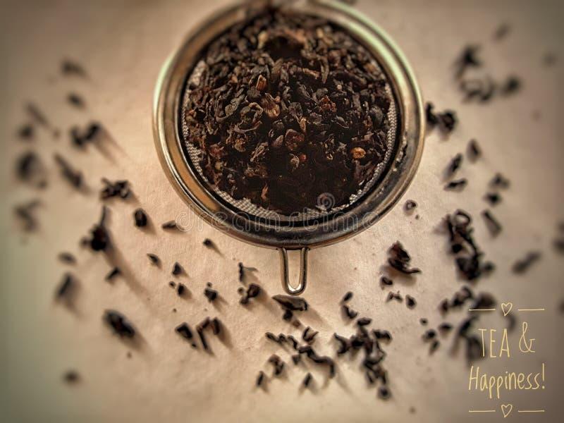 茶&幸福! 库存图片