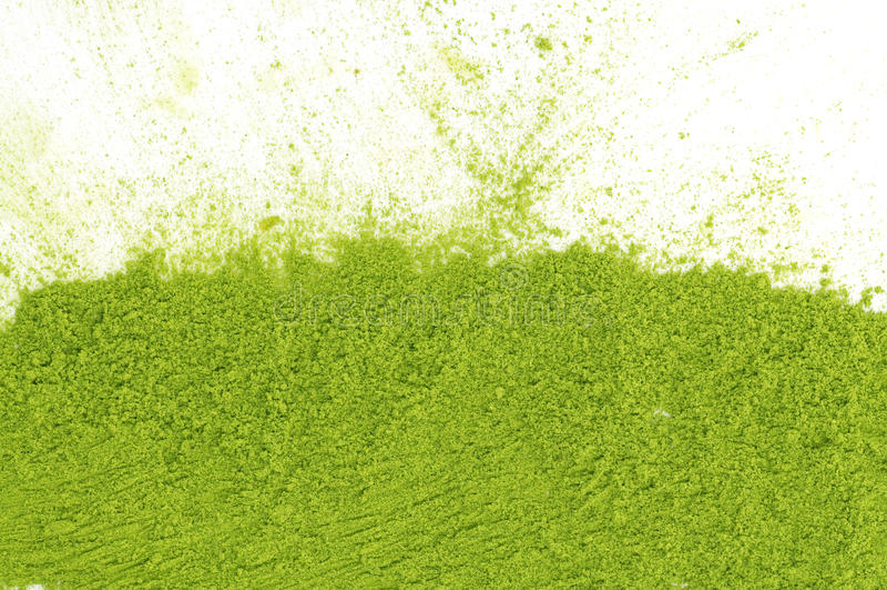 绿茶matcha粉末  库存图片