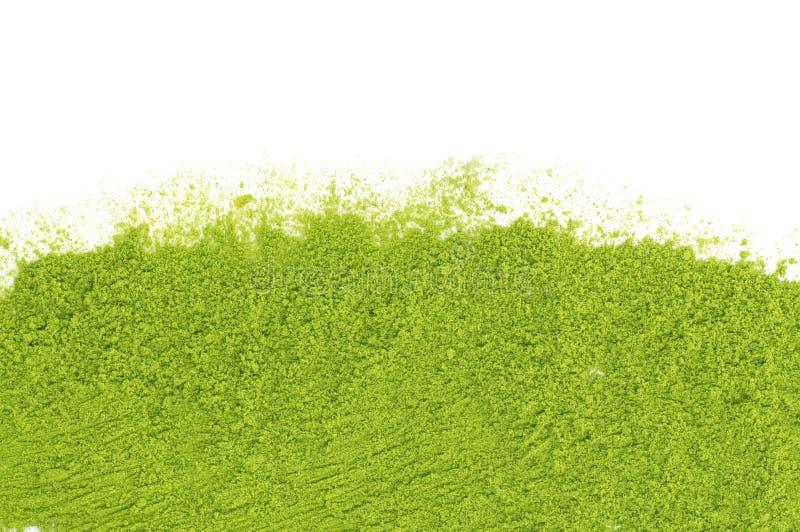绿茶matcha粉末  免版税库存图片