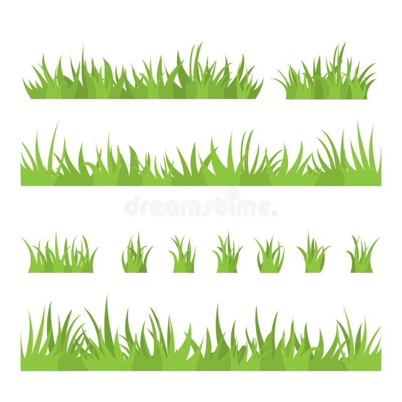 草一束  一套自然的设计元素 库存例证