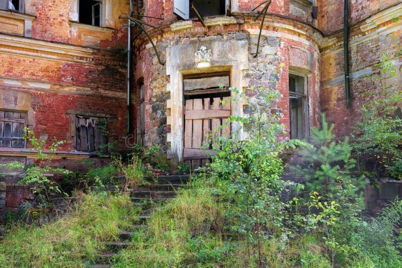 草丛生的前门 库存图片