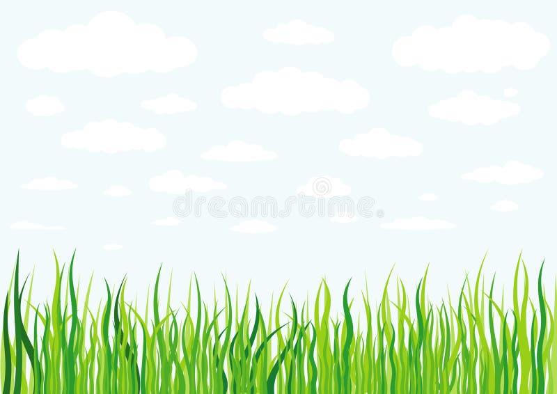 草云彩和天空背景 向量例证