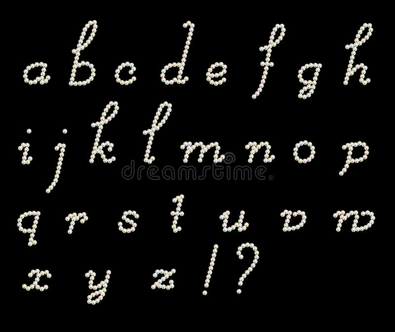 草写拉丁字母 向量例证