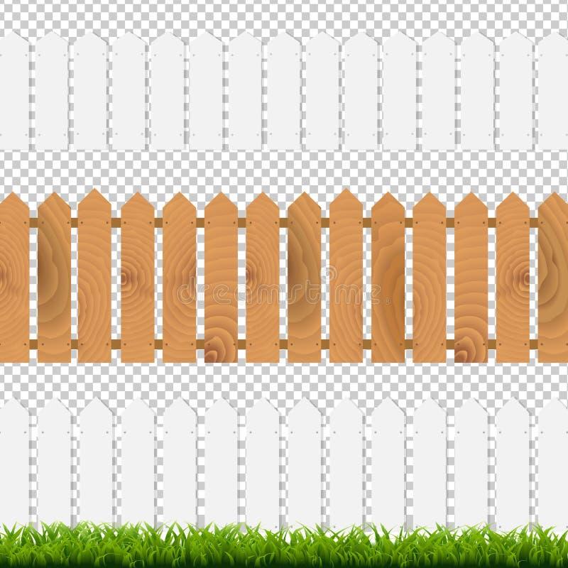 绿草和Fenses 库存例证