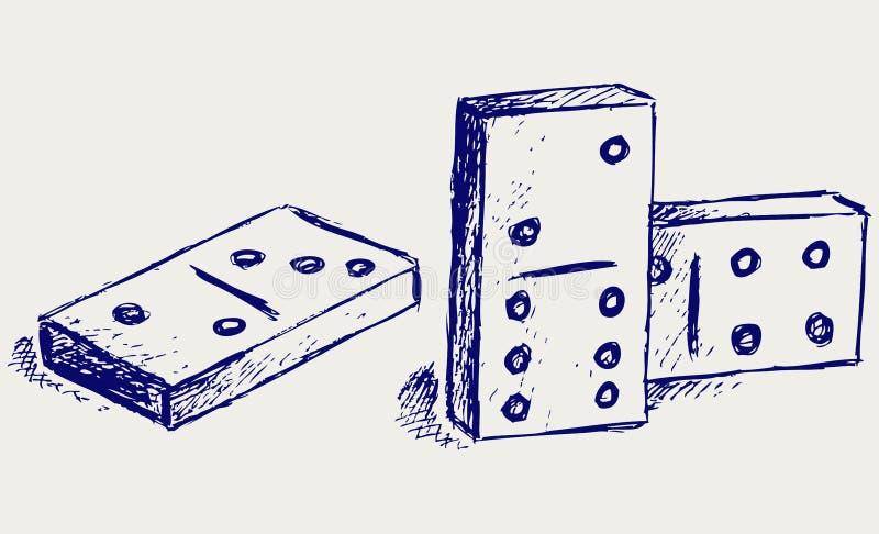 草图Domino 向量例证
