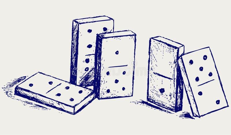草图Domino 皇族释放例证