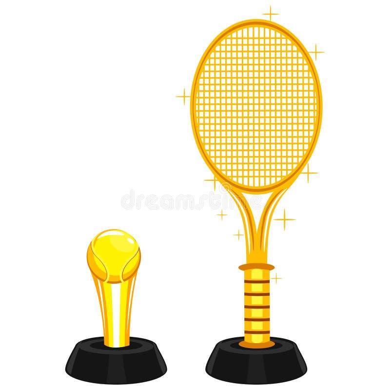 草地网球运动战利品 库存例证
