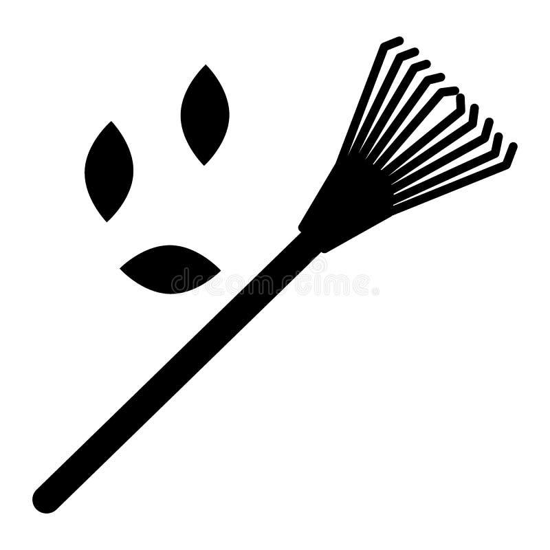 草坪犁耙,叶子固体象 蝴蝶 纵的沟纹样式设计,设计为网和app EPS 库存例证