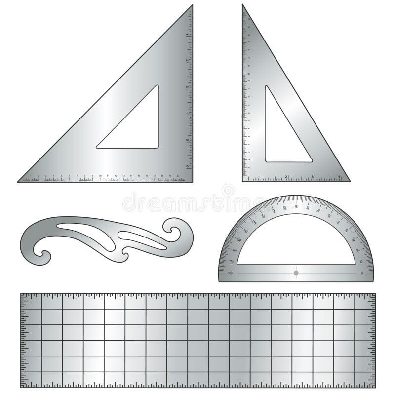 草拟的金属工具 皇族释放例证