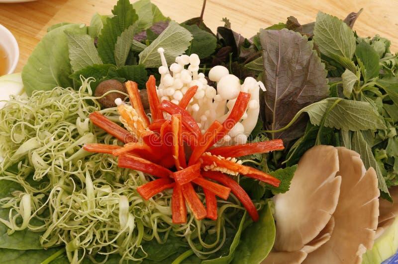 草本和菜越南热的罐的 免版税图库摄影