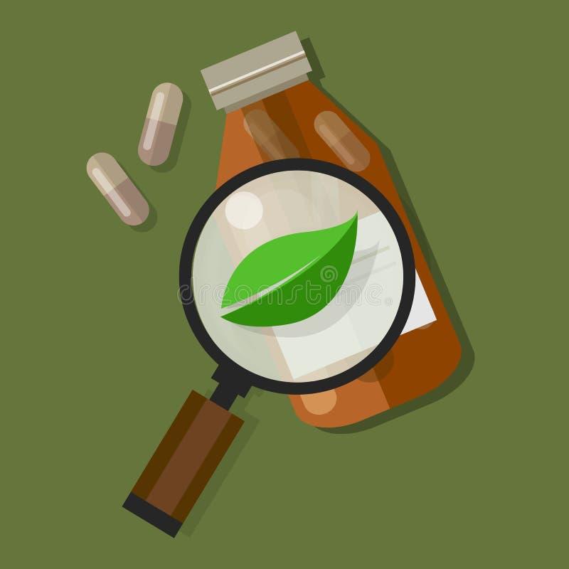 草本自然疗程健康自然愈合 库存例证