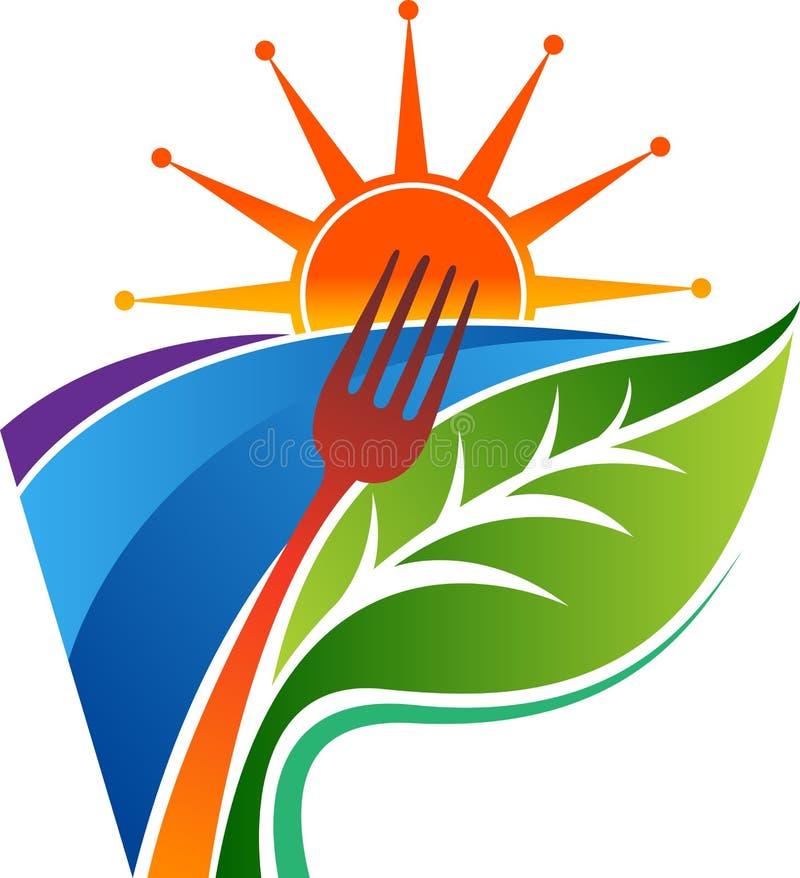 草本食物商标 向量例证