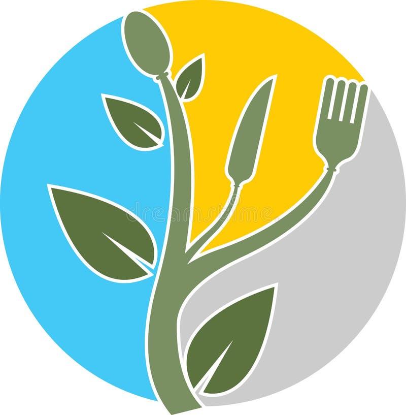 草本食物徽标 库存例证