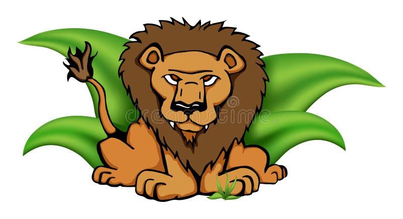 草狮子徒步旅行队向量 皇族释放例证