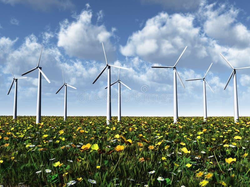 草甸次幂涡轮风 向量例证