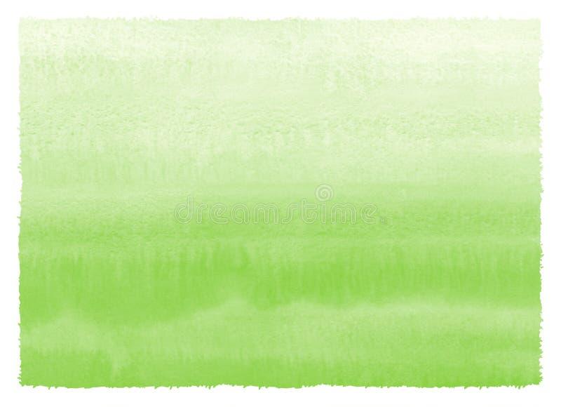 草绿色梯度水彩绘了纹理 皇族释放例证