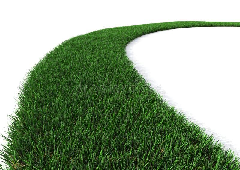 草绿色路径 皇族释放例证